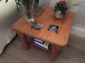 Solid pine coffee tables (pair)
