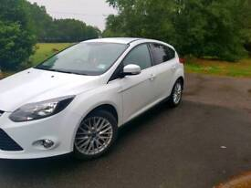 ***Excellent White Ford Focus For Sale 1.6 TDCI ECOnetic Zetec 62 reg only 28.400 miles** £6800 ono