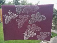 Purple Butterfly Bedroom Rug 120cm x 170cm