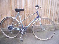 Retro Ladies Raleigh Wisp 5 Speed Road Bicycle.