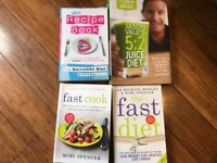 4 weight loss/diet books The Harcombe Diet, The Fast Diet, Fast Cook Recipe & 5:2 Juice Diet