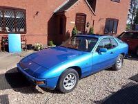 1981 Porsche 924, Blue ,Beige Interior, Personal Plate