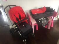 Bugaboo Cameleon Pushchair - Red (From birth)