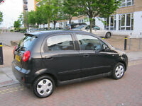2010 chevrolet matiz 1.0 litre 5 door, black, 12 month mot, 69k 2 owner, hpi clear 100%