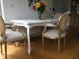 Shabby Chic French Style Dining Table