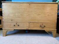 Victorian pine blanket box, chest, trunk