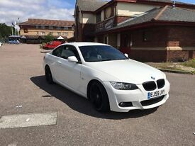 IMMACULATE BMW 320D M SPORT HIGHLINE WHITE FULL LEATHER LOW MILEAGE