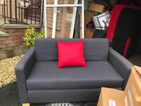 Grey fabric sofabed only £50