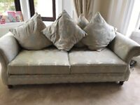 Beautiful 3 seater sofa, 2 seater sofa and chair with foot stool. Pet and smoke free home.