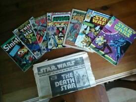 A selection of vintage comics