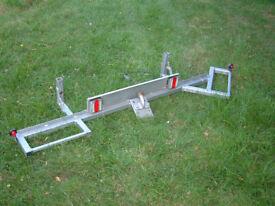 motorcycle tow bar rack