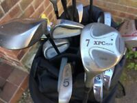 mixed set of L/hand clubs