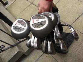 Golf clubs full set of irons woods Putter & Bag. Good condition. Bargain at £30