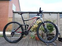 "29er Cube Stereo 120 Carbon Mountain Bike 20.5"" Large XL Frame -FOX Suspension XC Trail DROPPER POST"