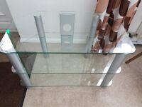 TV / HI - FI corner, glass unit