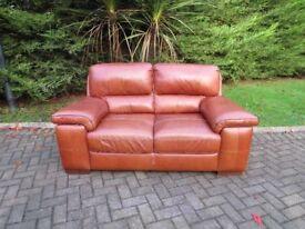 SiSi-Italia Tan Leather Sofa (100% Leather)