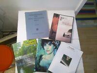 Piano score books (Enya, Yann Tiersen, Bach...)