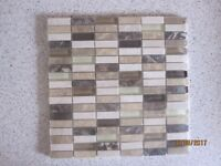 Marble and glass mosaic tile mats (5)