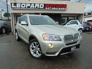 2011 BMW X3 Navigation, Panoramic Roof, Awd*Loaded*