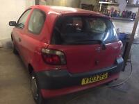 2003 TOYOTA YARIS 1.0 S LOW MILEAGE DRIVES PERFECT IDEAL FIRST CAR NEW MOT