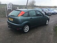 02 FORD FOCUS ZETEC 1600 cc ENGINE NICE CLEAN GOOD DRIVING CAR WITH A TOW BAR MOT CD AIR CON ALLOYS