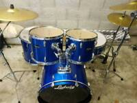 Ludwig Accent Drum Kit inc Hardware & Sabian Cymbals