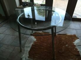 Ikea Glass table to Seat 4 people