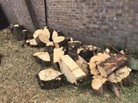 Firewood logs large van full.