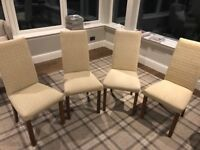 Dining Room Chairs, set of 4, covered in GP&J Baker fabric