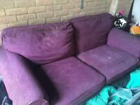 Two seater cloth sofa