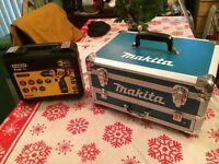 Makita 70 piece 18v 2 batteries combi drill