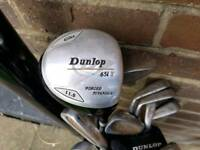 Full Set Of Spalding Golf Clubs and Hippo Bag