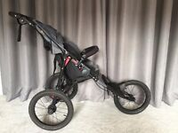 Out n About Nipper Sport Running Pushchair v4 Grey (Brand New except for wheels)