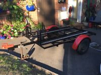 Heavy duty motorcycle trailer x2 in great condition