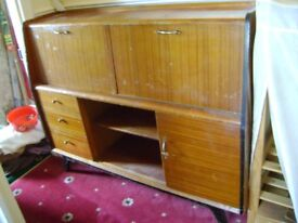 Antique Bureau Display Cabinet Vintage Bookcase Buyer Collect from Ealing
