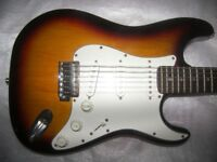Fender Squier Stratocaster Electric Guitar with Massive Body / 3 Colour Sunburst.