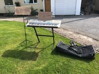 Electric keyboard and music stand for sale