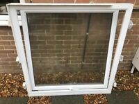 White uPVC window and frame USED
