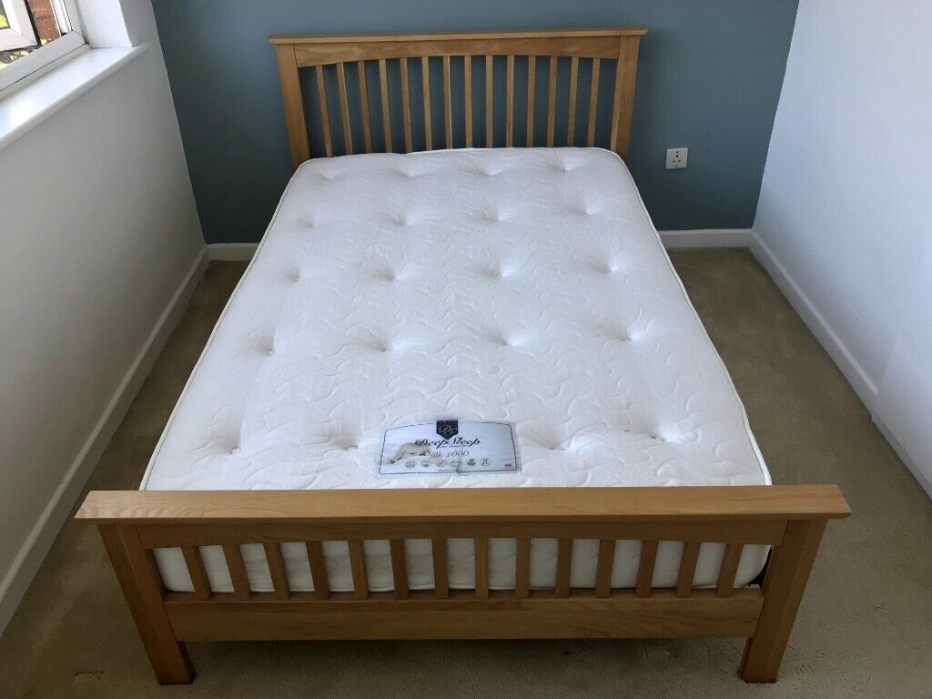Small Double bed - solid wood. Mattress also available ...