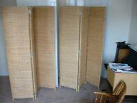 2 three section folding screens