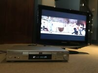 "26"" Samsung LCD TV inc DVD + Remotes and TV Cabinet and Shelves - Excellent condition"