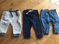 6-9 months joggers x3