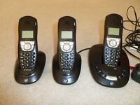 BT Synergy 4500 triple set of home phones with answer machine