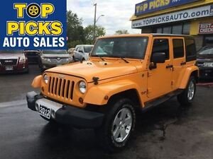 2012 Jeep WRANGLER UNLIMITED UNLIMITED SAHARA, AUTOMATIC, 2 TOPS