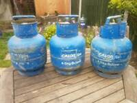 3x empty 4.5kg calor gas bottles