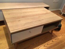 *New Coffee Table - Assembled - Oak & White - Scandi - £130