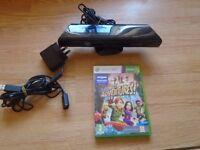 Kinect sensor for Xbox 360+power supply+Kinect Adventures game