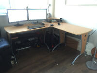 "Computer Desk ""L"" shape + Office chair"