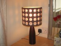 Table Lamp and Matching Ceiling Shade Brown