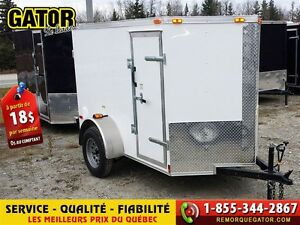 2016 Gator REMORQUE FERMÉE V-NOSE ENCLOSED TRAILER CARGO G... -